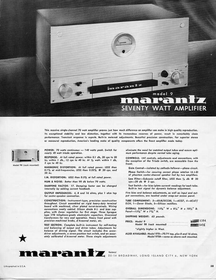 maranz model 9の広告