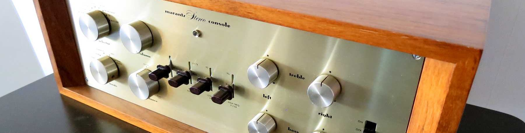 買い取ったヴィンテージプリアンプ。初期型Marantz7 preamp 初期型