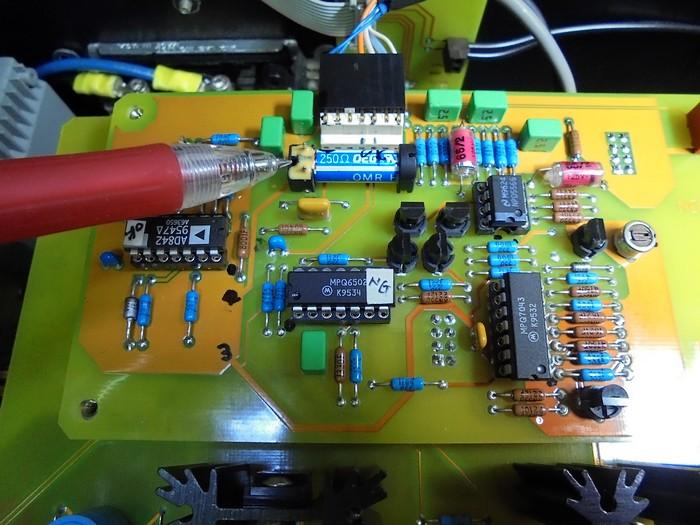SPECTRAL_入力ボード内のリードリレーにXLR_スイッチにした時に左側に5Vの電圧が来ておりません_ここが原因と思われます。
