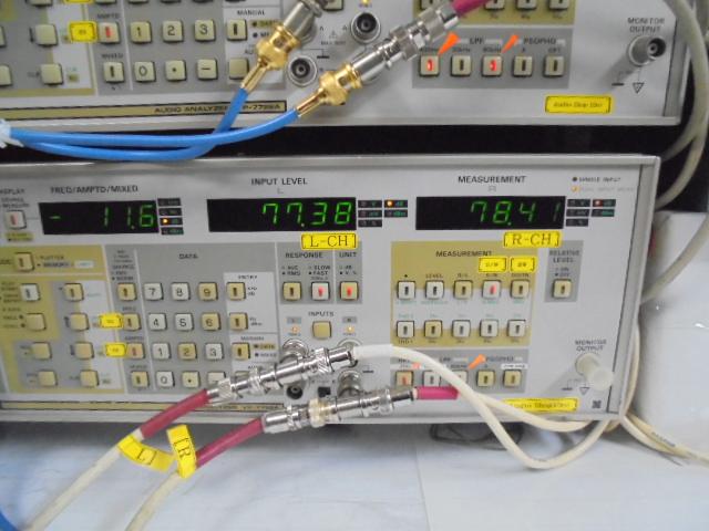 SPECTRAL_DMA-150_RCA_入力時、S_N比。-77dB_代とこちらの数字もまづまづです。すべて、RCA_入力時のスペックです