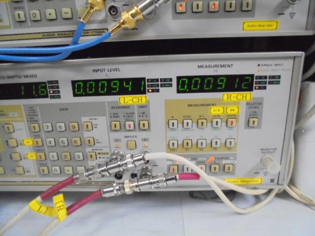 SPECTRAL_DMA-150_RCA_入力時、歪率、左右共に0.009%代と優秀な成績です