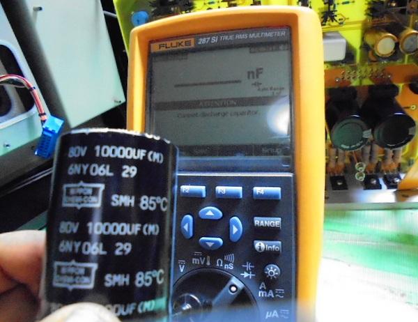 SPECTRAL DMA-150 XLR出力の弱い方のコンデンサーは、測定不可